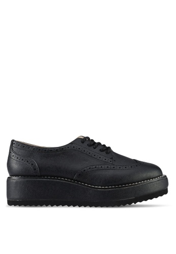 Something Borrowed black Lace Up Platform Loafers 6B485SH7EACE2DGS_1