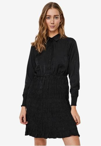 Vero Moda black Zadia Short Smock Dress 505C0AA17FBD62GS_1