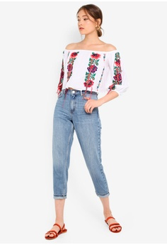 bdab4735a16 TOPSHOP Petite Mom Jeans S$ 79.90. Sizes 25 26 28 30 34