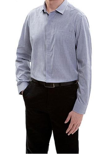 Goldlion blue Goldlion Long-Sleeved Shirt 8840FAA115BF53GS_1