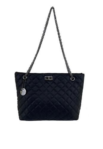 Mel&Co black Faux Leather Chain Shoulder Bag 6B5C7ACC1B6AD0GS_1