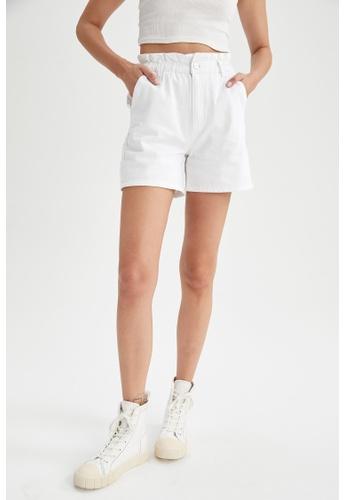 DeFacto 白色 Paperbag Cotton Short A3CAAAA7FBD196GS_1