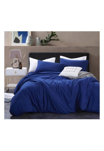 Bedding Day Bedding Day - Soft Microfiber Solid 700TC Fitted Sheet Set - Cobalt D0101HL01B240CGS_1