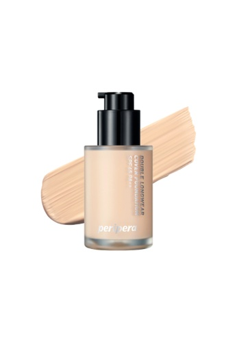 Peripera beige PERIPERA Double Longwear Cover Foundation [3 Shades to Choose] 978F1BE86BCCAEGS_1