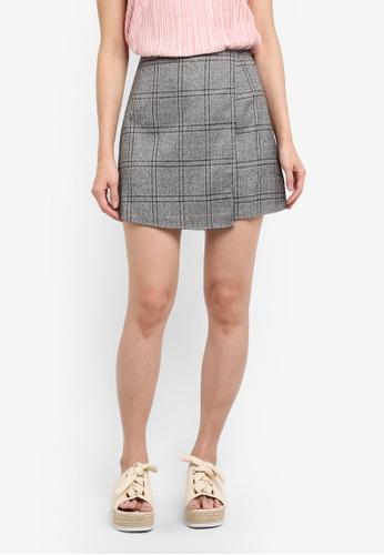 Something Borrowed blue Asymmetric Wrap Skirt 2A945AAFB27EE1GS_1