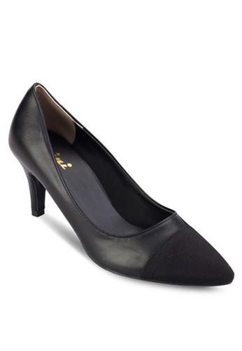 撞色皮革尖頭高跟鞋, 女鞋,尖沙咀 esprit 鞋