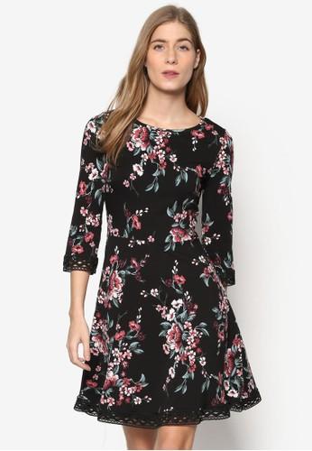 東方印花蕾絲七分袖洋裝,esprit香港門市 服飾, 洋裝