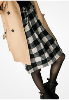 Plaid Command Drawstring Skirt