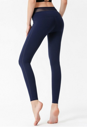 B-Code navy ZYG3049-Lady Quick Drying Running Fitness Yoga Sports Leggings -Navy BE467AABAB7FDCGS_1