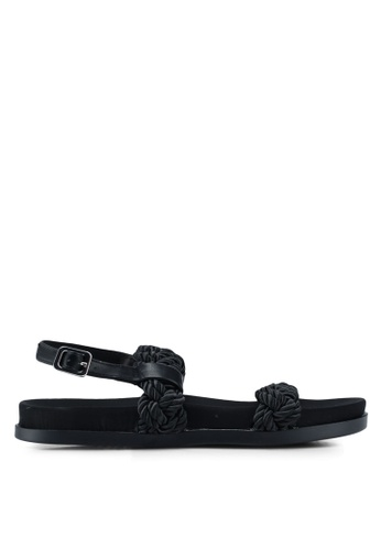 TOPSHOP black Hackney Rope Footbed Sandals E14BCSH9A26EB0GS_1