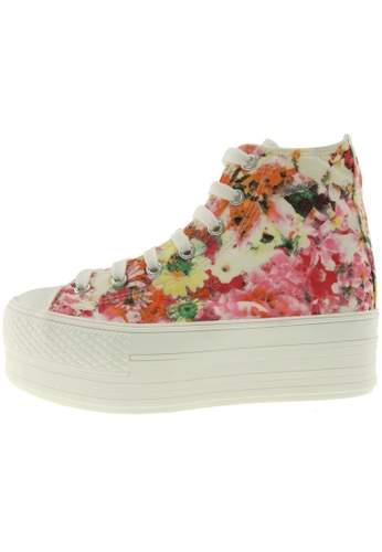 Maxstar 紅色 新款韩国鞋C50-7H-Flower時尚帆布布混合女紅色 US Women Size MA345SH07GWUTW_1