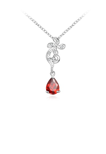 Glamorousky red Elegant Romantic Windmill Pendant with Red Cubic Zircon and Necklace 89689ACCA6EA6DGS_1