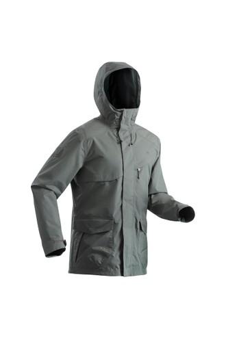 Decathlon Quechua Jaket Hiking Anti Air Pria NH500 - Khaki - 8505013 AA453AA1C4E9C7GS_1