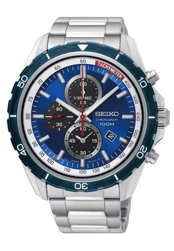 Seiko multi Seiko Criteria Blue and Silver Stainless Steel Watch F472FAC91AF3C5GS_1