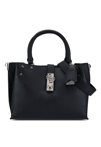 Guess black Albury Small Girlfriend Satchel Bag 1D2E0AC4FC9660GS_1