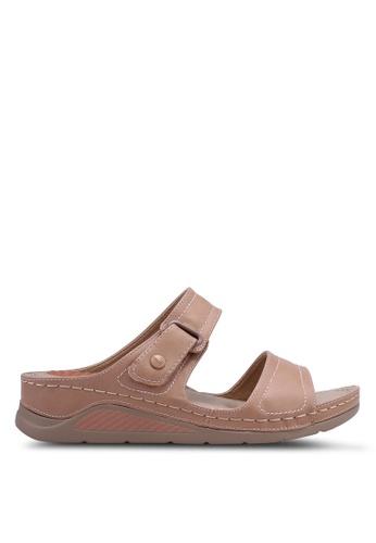 Bata 粉紅色 懶人楔型鞋 485B3SH1F99F12GS_1