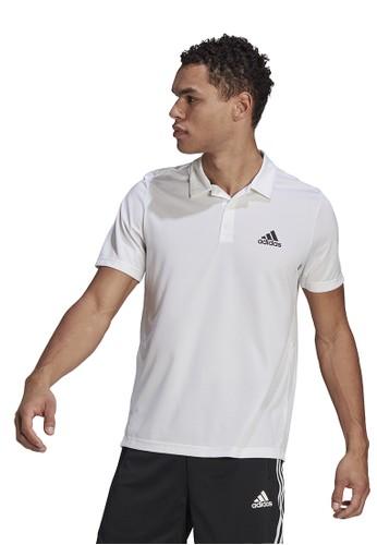 ADIDAS white d2m plain polo shirt 556BAAA9B87C61GS_1
