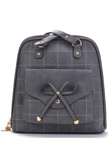 Vince grey Korean Designed Minimalist BackPack ( Grey ) VI456AC14VEVMY_1