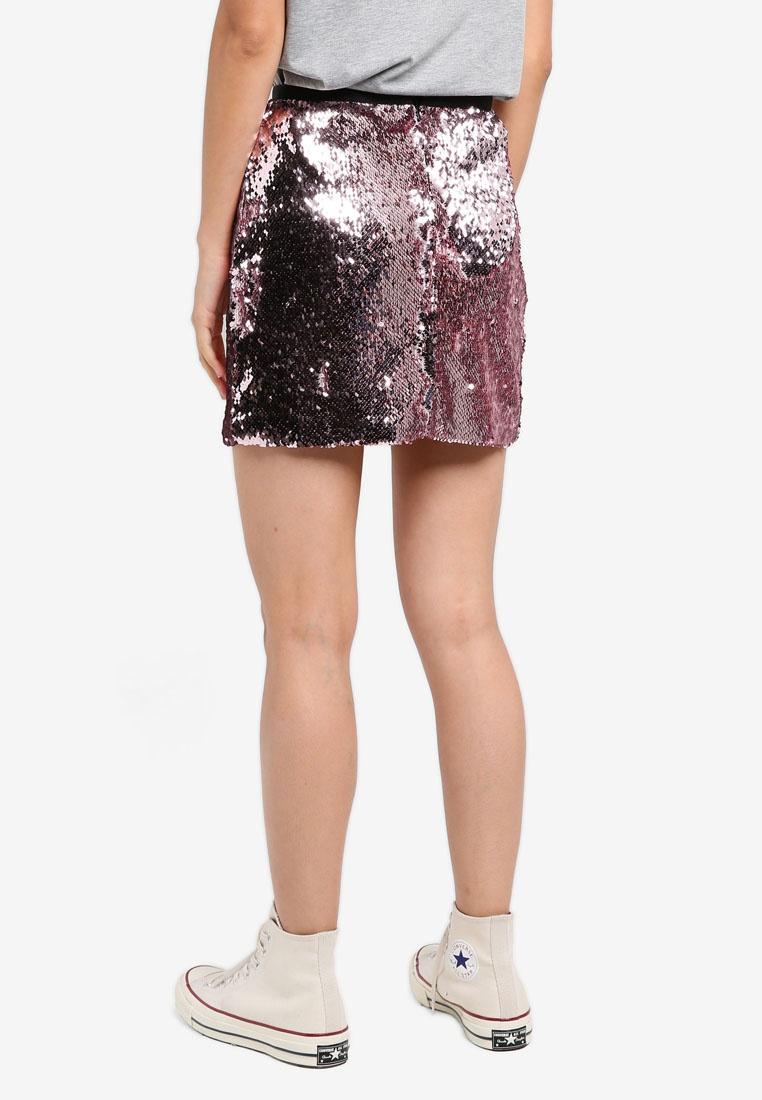 Skirt Dazzling Pink Embellished Sequin Mini Light TOPSHOP wTqzIdn