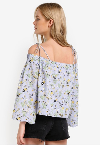 473d625465991 Buy TOPSHOP Printed Bardot Top Online on ZALORA Singapore
