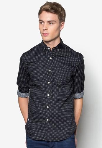 點點印花長袖襯衫, 服esprit香港門市飾, 襯衫