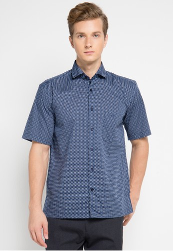 Pierre Cardin Apparel navy Shirt Short Sleeve PI754AA0UIUBID_1