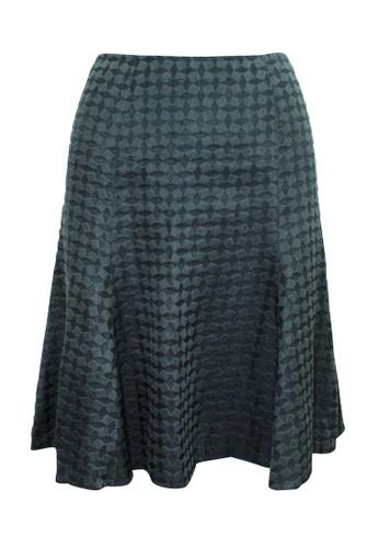 Emporio Armani 灰色 emporio armani 深灰色紋理半身裙 49886AA50B817DGS_1