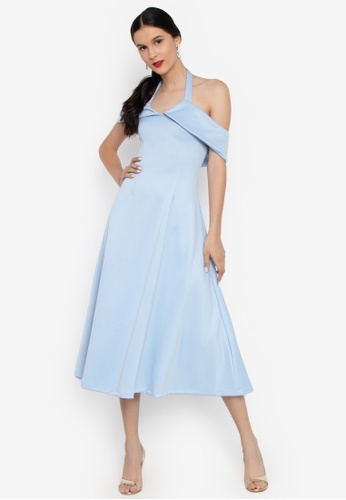 998da10a556f Daria blue Sabrina Off Shoulder Fit And Flare Semi-Formal Dress  4F83DAA2D5BC10GS 1