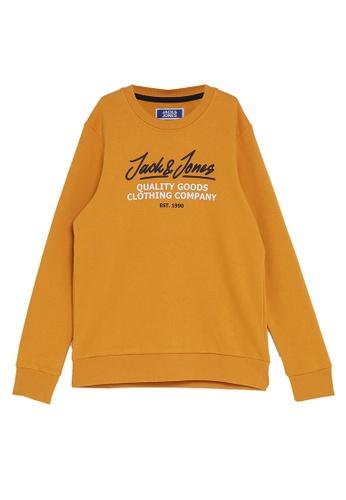 Jack & Jones orange Boys Loopback Sweatshirt 1C52BKA89E2CFDGS_1