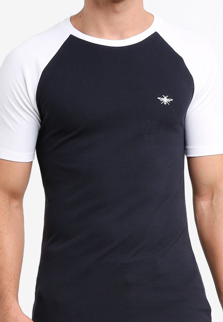 Raglan T Island Shirt River Pique Navy dw5qTx4