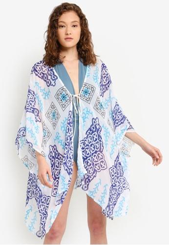 3bc561367 PINK N' PROPER blue Maui Chiffon Beach Kaftan Dress 65467US743A47FGS_1