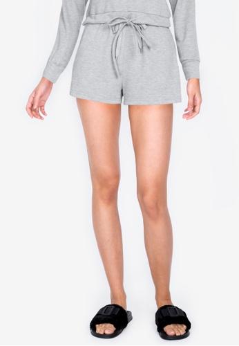 ZALORA BASICS grey Lounge Pocket Shorts 9743CAA1696E82GS_1