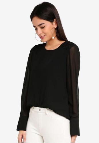 Vero Moda black Julia O-neck Top 1179DAA9F86A3CGS_1