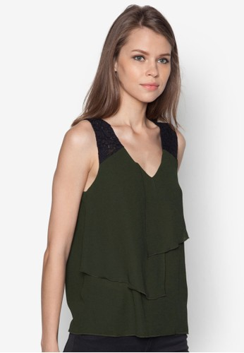Foarmy 不對稱zalora時尚購物網的koumi koumi層次上衣, 服飾, 服飾