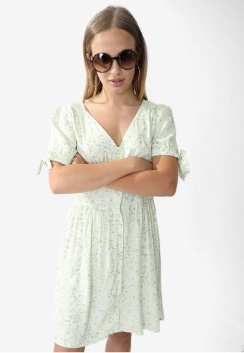 PIMKIE green Floral Dress AECA3AABF82D86GS_1