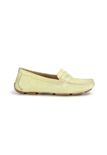 Shu Talk green Amaztep Comfortable Penny Leather Loafers 6E010SHEB277DBGS_1