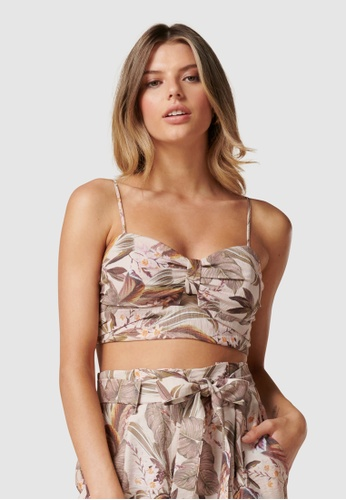 Forever New multi Pauline Crop Bustier Co-ord EFEB8AA224A205GS_1