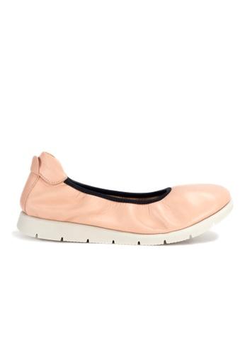 Shu Talk 粉紅色 DARKWOOD 超舒適芭蕾舞有跟鞋 3C8F8SH63ADE52GS_1