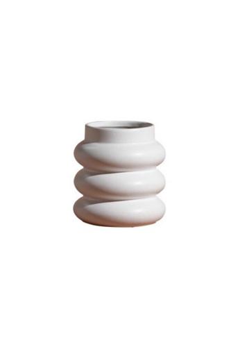 DILAS HOME Mid-century Stepped Vase (White) 1B825HL8AE0CDAGS_1