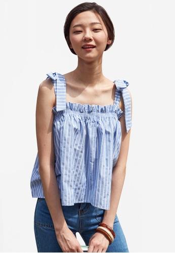 NAIN blue Ribbon Tie Summer Swing Top 9B386AA7A14B5BGS_1