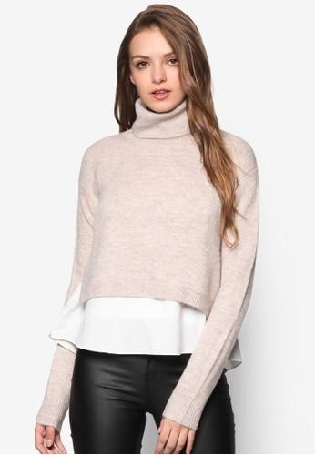 Pazalora是哪裡的牌子ddington 高領層次拼接長袖衫, 服飾, 外套