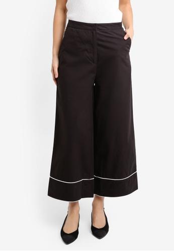 ZALORA black Cropped Wide Leg Pants 2F886AAC6A1B22GS_1