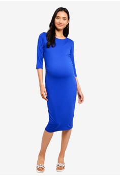 b545b4944021a Dorothy Perkins blue Maternity Cobalt 3/4 Sleeve Bodycon 60E14AA5665D99GS_1