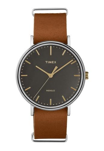 TIMEX brown Timex Weekender™ Fairfield 41mm - TW2P97900 TI205AC0RETFMY_1