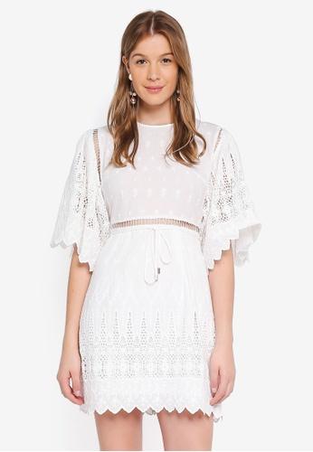 Angeleye white White Lace Up Dress 4C64AAA275A4E3GS_1