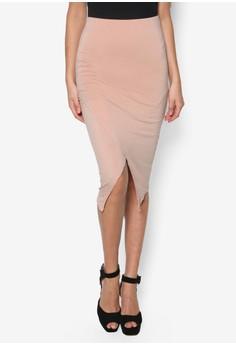 Wrap Asymmetric Midi Skirt