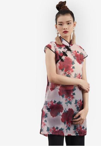 Berrybenka pink Cedora Cheongsam Blouse C4D36AAF6115BCGS_1