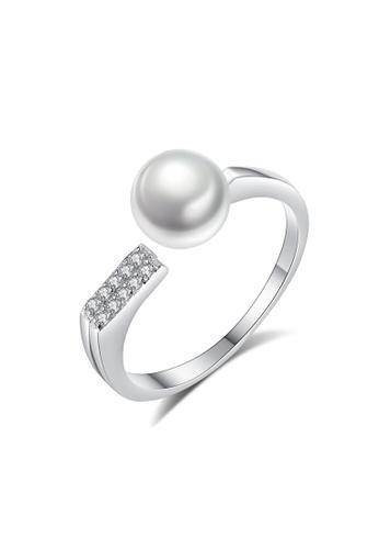 A.Excellence white Premium White Pearl Ring A37A1ACCEBF3E9GS_1