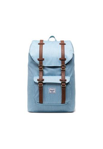 Herschel blue Herschel Little America Mid-Volume Backpack - Light Denim Crosshatch B3FF2AC0EE3A42GS_1