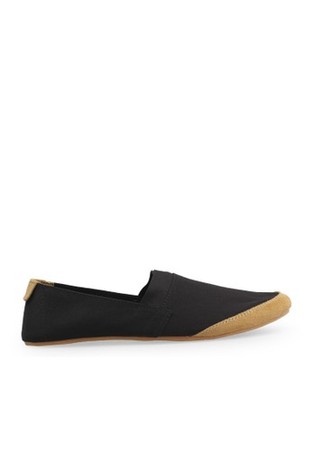 Minarno black Black Canvas Slip-On NB05 MI641SH46GUBID_1